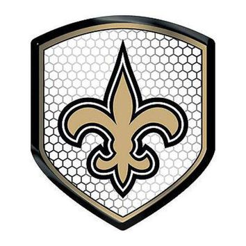 DCCKIHN New Orleans Saints Team Shield Reflector Emblem Decal Sticker Auto Home Football