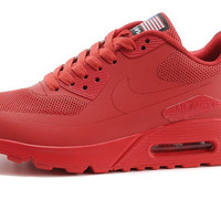 Red Nike Air Max 90 Hyperfuse Running Shoes