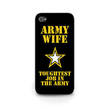 Army Wife Phone Case - Proud Army Wife iPhone 6 Case - Army Deployment GIft - Army Wife iPhone 5s Case - US Army Wife iPhone 5c Case