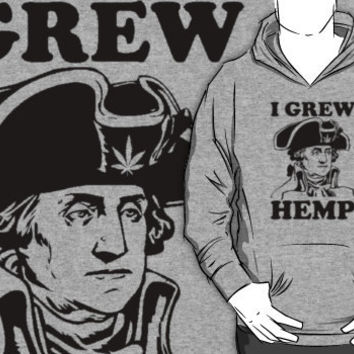 george washington grew hemp hoodie