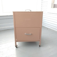 Veriflex, Legal Size, Filing Cabinet, Metal, Top Load, Flip Top, with File Drawer, Craft Storage, Vintage