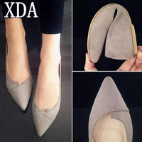XDA 2017 Women Shoes Woman Flats high quality suede Casual Comfortable pointed toe Rubber Women Flat Shoe Hot Sale New Flats