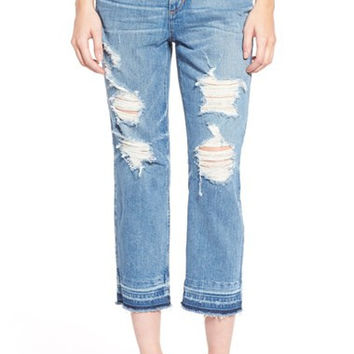 'Collector's - Debbie' High Rise Destroyed Boyfriend Jeans (Mazie)