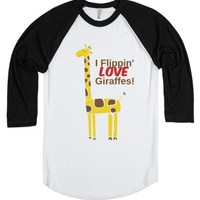 Giraffes-Unisex White/Black T-Shirt
