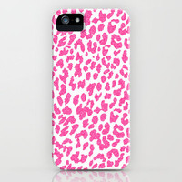 Pink Leopard iPhone Case by MN Art