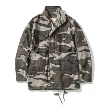 1966 M65 Trench Coat Camouflage Military Jacket
