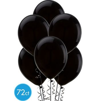 Black Latex Balloons 12in 72ct