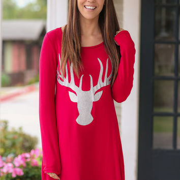 Fashion Long-sleeved Round neck Print Party Dresses