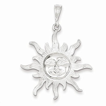 Sterling Silver Sun Pendant, Best Quality Free Gift Box Satisfaction Guaranteed