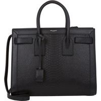 Python-Stamped Small Sac De Jour Carryall
