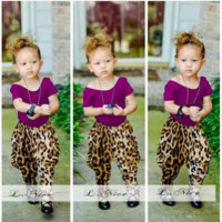Girls 2 Piece Leopard Outfit