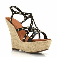 patent-studded-wedges BLACK GREEN NAVY NUDE - GoJane.com