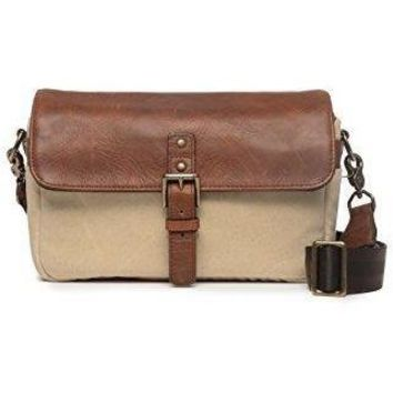 ONA - The Bowery-Camera Messenger Bag-50/50 Natural Waxed Canvas&Antique Cognac Leather(ONA5-014NTL)