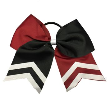 Softball Hair Bow- Maroon