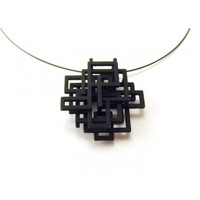 Melissa Borrell Design Squared Pendant in Black - Jewelry - Personal Accessories - Accessories