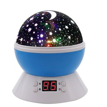 SCOPOW Lighting Night Light Star Projector with Timer Auto-Shut Off, 360 Degree Rotation Colorful Moon Night Lamp...
