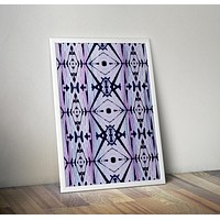 Grunge Tie Dye Blue and Purple Poster Bohemian Art Print Poster Design no frame 20x30 Large