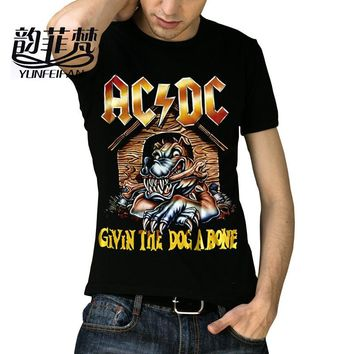 Famous Brand Iron Maiden AC DC Metallica Clothing The Beatles Nirvana Guns N Roses Chucky Rock 3D Printed Men's Skull T Shirt