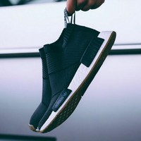 "Women ""Adidas"" NMD Boots Casual nmd Sports Shoes Black White"