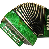Russian Garmon Kuban, 25 x 25, Harmonika Button Bayan, Accordion Instrument, 521