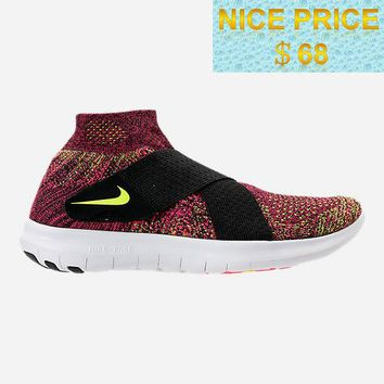 Where To Buy WOMENS NIKE FREE RN MOTION FLYKNIT 2017 RUNNING SHOES 880846 004 Black Chlorine Blue Racer Pink sneaker