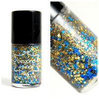 Menorah Lights Glitter Nail Polish