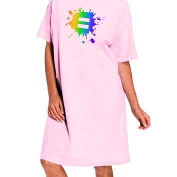 Equal Rainbow Paint Splatter Adult Wear Around Night Shirt and Dress by TooLoud