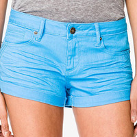 Perma-Creased Cuffed Denim Shorts
