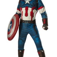 Avengers 2 Deluxe Captain America Adult Costume | Oya Costumes