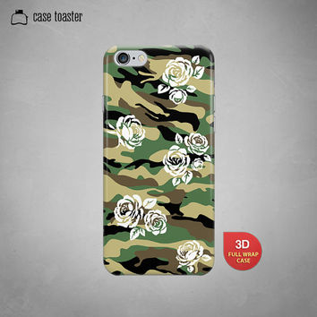"Girly camouflage flower camo - iphone 6 case (4.7""), iphone 6 plus case (5.5""), iphone 5C case, iphone 5S case, iphone 4S case"