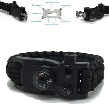 Paracord Escape Bracelet Travel Kit