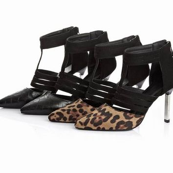 Womens Edgy Trendy Animal High Heels