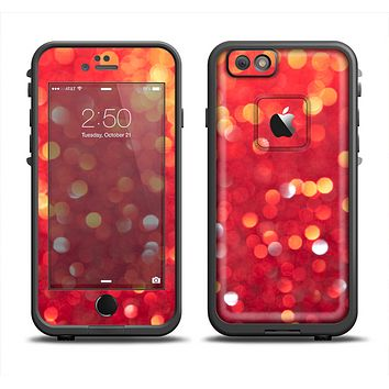 The Unfocused Red Showers Apple iPhone 6 LifeProof Fre Case Skin Set