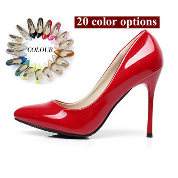 Wedding Party Court Shoes Office Lady Classics Women Sexy Stiletto High Heels Pumps Shoes Pointed Toe Shoes