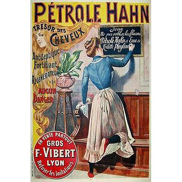 CLASSIC PETROLE HAHN FRENCH HAIR PRODUCT poster woman long hair 24X36