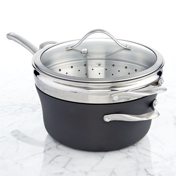 Calphalon Contemporary Nonstick 4.5 Qt. Covered Steamer Pot with Insert | macys.com