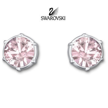 Swarovski Pink/ Light Amethyst Crystal TYPICAL Pierced Earrings #5086255