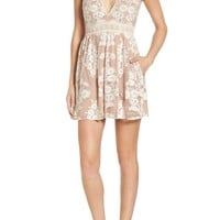 For Love & Lemons x Nordstrom 'Salud' Embroidered Mesh Minidress (Nordstrom Exclusive) | Nordstrom