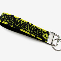 Star Wars Key Fob Wristlet // Star Wars // Star Wars Accessories // Key Holder // Key Wristlet // Star Wars Gift // Black and Yellow