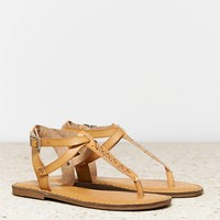 AEO Women's Studded T-strap Sandal (Natural)