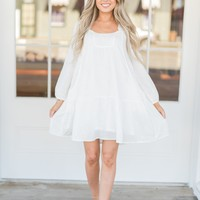 Marley White Babydoll Dress