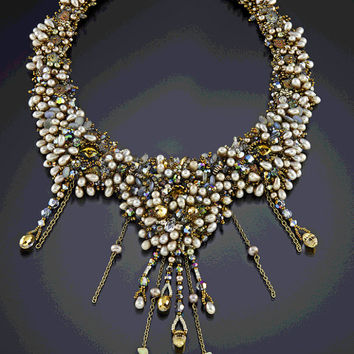 Bead Embroidered Neckpiece PEARL JAM