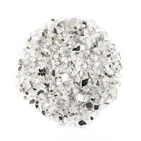"""10lbs 1/2"""", Clear Reflective Fire Glass - Tempered for Fireplace & Fire Pit"""