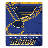 St. Louis Blues NHL Light Weight Fleece Blanket (Fadeaway Series) (50inx60in)