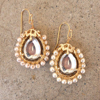 Looking Glass Earrings [3303] - $14.00 : Vintage Inspired Clothing & Affordable Fall Frocks, deloom   Modern. Vintage. Crafted.