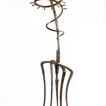 Coat / Hat / Umbrella Stand, Ballerina Hallstand, Coatrack, Free Standing Coat and Hat Steel Stand, Clothing Rack, Coat Hooks
