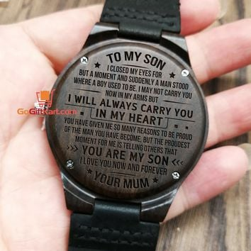 Son Mum In My Heart Wooden Watch