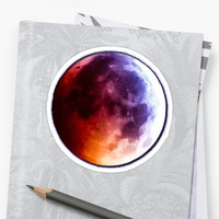 'man on the moon ' Sticker by conlang7