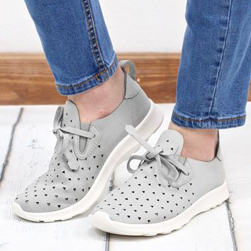 Not Rated: Marlum Laser Cut Memory Foam Sneakers {L. Grey}