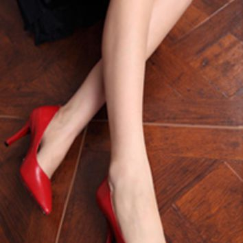 Classic Candy Color Point Toe Stylish Stiletto High Heels